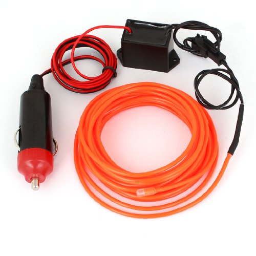5M EL Fil Rouge Orange Brillantes Léger w 1M Voiture Compresseur