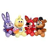 Microplush Five Nights at Freddy's Plush Toy 10inch set of 4 Bonnie /Chica /Freddy /Foxy ファイブナイトアットフレディーズ ぬいぐるみ 4体セット ボニー チカ フォクシー フレディー [並行輸入品]
