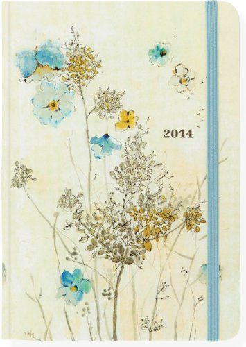 2014 Watercolor Flowers 16-Month Weekly Planner (Compact Engagement Calendar, Diary)
