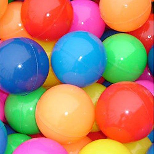 "50 Pcs Colorful Soft Plastic Ocean Fun Ball Balls Baby Kids Tent Swim Pit Toys Game Gift 2.76"" (Random colors)"