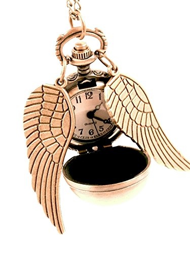 1pcs* Harry Potter Golden Snitch Pendant Pocket Watch Necklace Wings Chain Gift (Harry Potter Snitch)