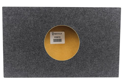 "Rockville Rsm10 Single 10"" Shallow Mount 1.1 Cu. Ft. Mdf Sealed Subwoofer Enclosure - Made In America Using Only The Highest Quality Materials For The Best Performance And Sound From Your Subs"