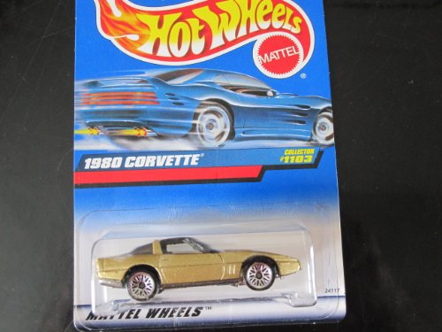 1980 Corvette (gold w/ wire Wheels) Hot Wheels Collector #1103 on Blue-white Card - 1