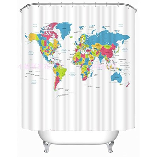 celine-lin-world-map-mildew-free-polyester-water-repellent-fabric-bath-curtain-shower-curtain7272inc