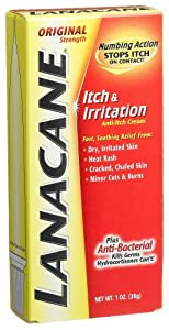 Lanacane Cream, Itch & Irritation, Original Strength, 1-Ounce Boxes (Pack of 4)