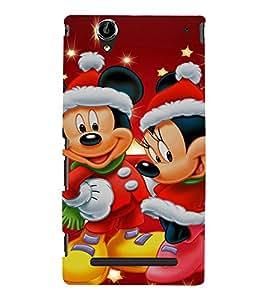 EPICCASE Mick and Mini celebration Mobile Back Case Cover For Sony Xperia T2 (Designer Case)
