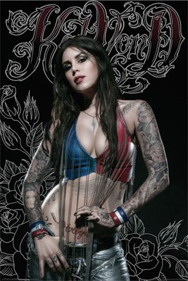 Kat Von D Poster Sexy Shot - Tattoo Rare Hot 24X36 - 3