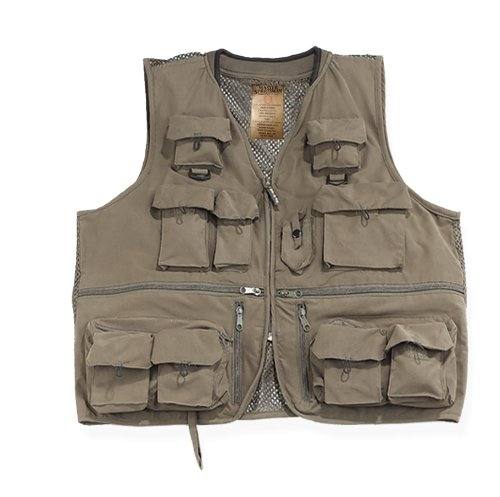 Prestige Alpine Fishing Vest (Olive, XX-Large)