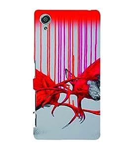 PrintVisa Birds Modern Art Owl 3D Hard Polycarbonate Designer Back Case Cover for Sony Xperia X