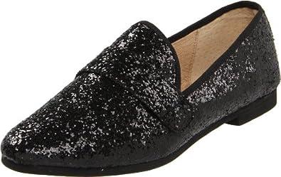 Steve Madden Women's Eltonn Loafer,Black Glitter,6 M US