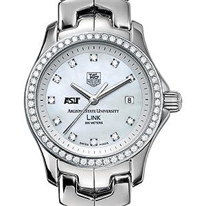 Arizona State University TAG Heuer Watch - Ladies Link with Diamond B by TAG Heuer