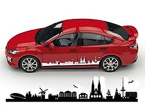 bremen skyline auto aufkleber silhouette stadt bremen fahrzeug sticker deutschland. Black Bedroom Furniture Sets. Home Design Ideas
