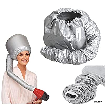 Berucci Portable Hair Drying Styling Soft Cap Bonnet Hood Hat Blow Hair Dryer Attachment