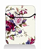 Purple Floral 15'' 15.4'' 15.6'' Laptop Sleeve Case Netbook Flip Bag Pouch Cover for 15.6