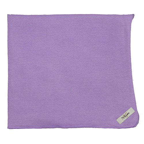 "My Blankee Organic Cotton  Jersey Knit Swaddle Baby Blanket, 47"" X 47"", Purple"