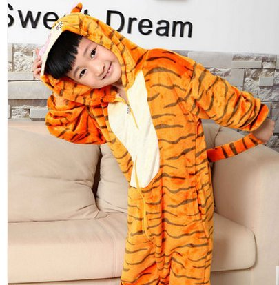Us Top Tigger Costumes for Children Kids Cuddly Onesie Pajamas