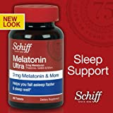 Quality Schiff Brand - Schiff Melatonin Ultra. 300 Tablets. 3mg Melatonin + 25mg L-Theanine + 25mg GABA + Chamomile & Va