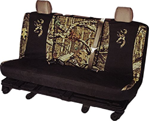 Browning Buckmark Camo Full-Size Switch Back Bench Seat Cover (Mossy Oak Infinity Camo, Durable Polyester, Includes One Seat Cover and Two Headrest Covers, Sold Individually) (F350 Seat Covers Ford Truck compare prices)