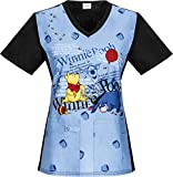 Tooniforms By Cherokee Women's Cherokee Disney Winnie The Pooh Scrub Top XX-Large Too Hunny