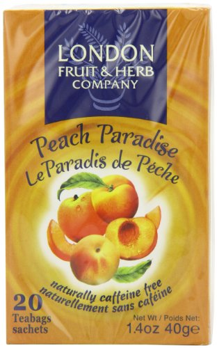 London Fruit and Herb Peach Paradise 20 Teabags (Pack of 6, Total 120 Teabags)