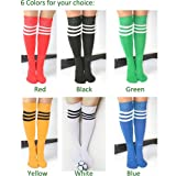 Zeagoo Womens Pure Color Knee High Stripe Tube Socks
