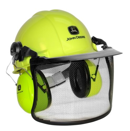 John Deere 93123 High Visibility Forestry and Chain Saw Helmet
