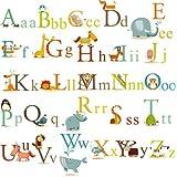 Animals Alphabet Baby Nursery Peel & Stick Wall Art Sticker Decals For Boys And Girls