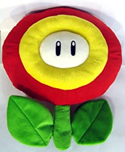 Super Mario Brothers : Fire Flower Plush Pillow - 15""