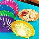Plastic Seashell Plates (1 dz)