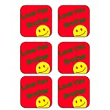 MeSleep Love Brother Wooden Coaster-Set Of 6 - B013LENWOW