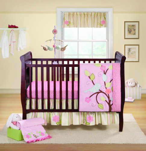 Bananafish 3 Piece Crib Set, Love Bird