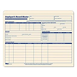 Tops 3280 Employee Record Master File Jacket, 9 1/2 x 11 3/4, 10 Point Manila, 20/Pack