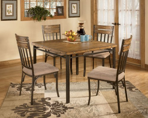 furnituremaxx 5 pc wood and metal dining room set dining