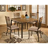 5 PC Wood and Metal Dining Room Set