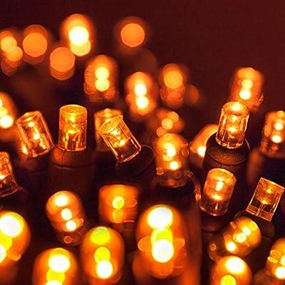 Wintergreen Lighting 70 Light 5mm Amber LED Christmas Lights