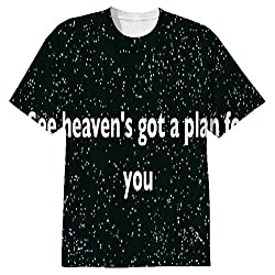 Snoogg See Heaven'S Got A Plan For You Mens Casual All Over Printed T Shirts Tees