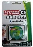 No brand microSD (2枚対応) から CF TYPE I への変換アダプター Extreme microSDXC対応