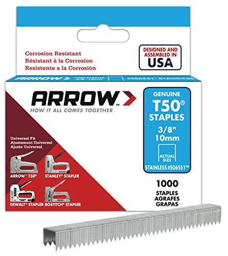 Arrow Fastener 506SS1 Genuine T50 Stainless Steel 3/8-Inch Staples, 1,000-Pack (Metal Toolbox Made In Usa compare prices)