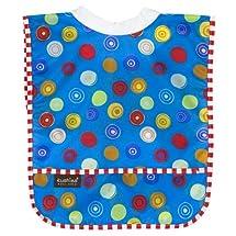 Kushies Waterproof Ribneck Bib, Blue Circle, Infant