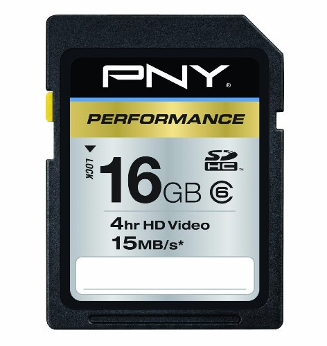 PNY Performance Series 16 GB Class 6 15 MB/s Rated SDHC Flas
