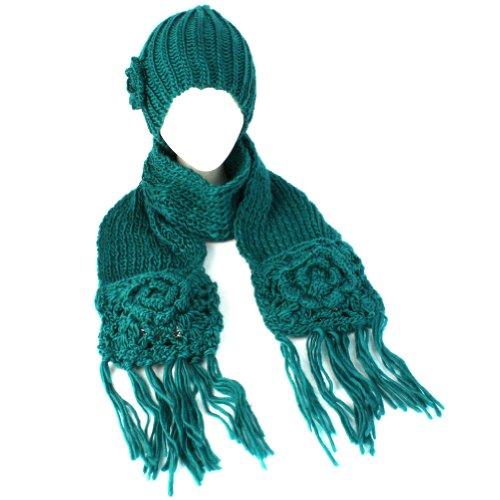 shopping best pricewinter crochet flower knit