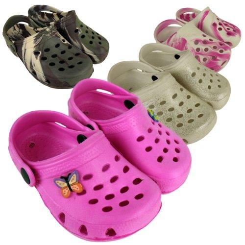 Kids Boys Girls Rubber Shoe Flip Flops Beach Walking Sandals Shoes Size UK 5-3