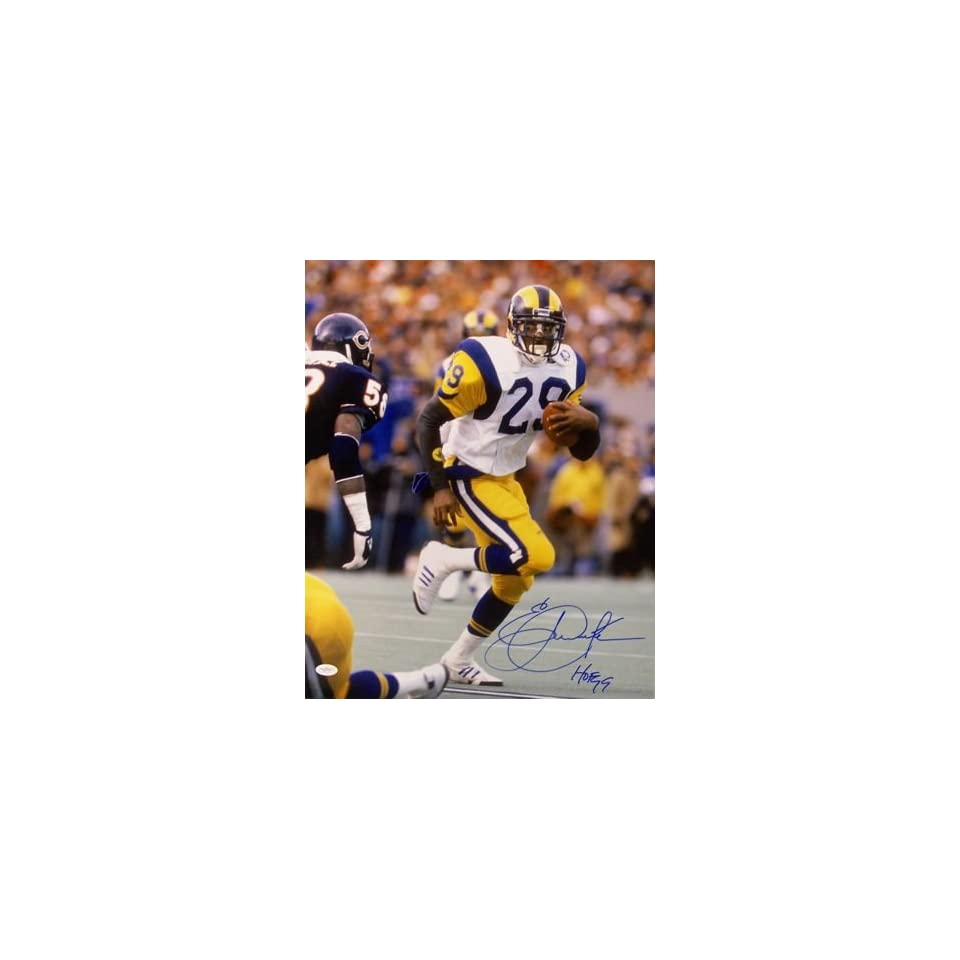 29acf6720a7 Eric Dickerson Autographed Hand Signed Los Angeles Rams on PopScreen
