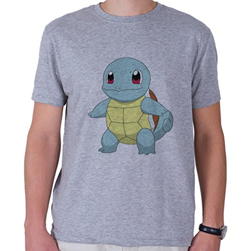 Squirtle-Looking-Happy-Camiseta-Hombres