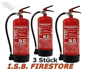 3 Stück  Schaumlöscher 6 Liter mit außenliegendem Prüfventil von ISB Firestore  BaumarktKundenbewertung und Beschreibung