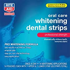 Rite Aid Whitening Dental Strips, 14 ea