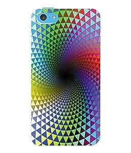 Fuson 3D Printed Pattern Designer Back Case Cover for Apple iPhone 5C - D1033