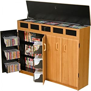 VHZ Entertainment Top Load Multimedia Cabinet Finish: Black & Oak