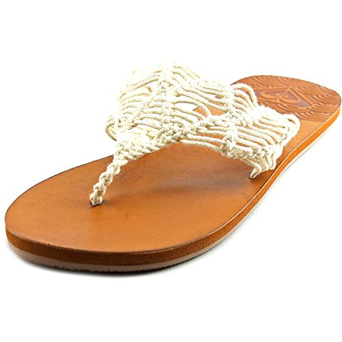 Roxy Women's Surya Sandal Flip Flop, White, 7 M US