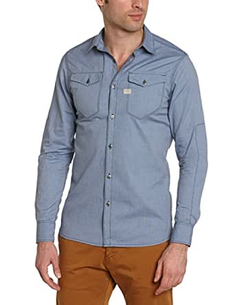 G-star - tacoma - chemise casual - coupe droite - homme - bleu (mazarine blue) - X-Small